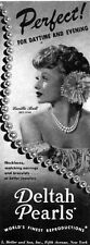 Lucille Ball I Love Lucy DELTAH PEARLS NECKLACE For Daytime EVENING Rare 1942 Ad