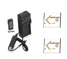 TWO Batteries + Charger for Sony DSC-W310S DSC-W320 DSC-W320B DSCW310S DSCW320B