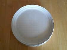 Mikasa SNOW WHITE J4000 Japan Set of 2 Dinner Plates Speckled Coutour rim