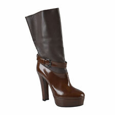 Viktor & Rolf Women's Leather Platform Mid Calf Boots Shoes US 7 UK 37