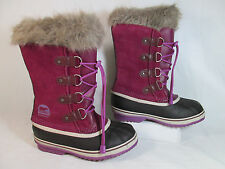 Sorel JOAN OF Arctic  Leather & Rubber Winter/Snow Boots Purple&Black Sz 4-M