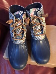 New Sperry Top-Sider boots - Saltwater Washed Plaid - 7.5 M