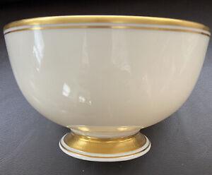 Elegant Rare Vintage Lenox Porcelain Bowl Cream w/ 24k Gold Trim. Made In USA