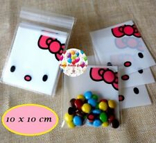 Party : Hello Kitty Self Seal Plastic Cookie Candie Bag approx  48 to 50 pcs