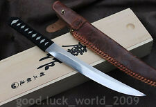 High Quality Chinese Short Sword Dagger Clay Tempered Folded Pattern Steel Sharp