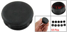 10Pcs Black Plastic Chair Table Round 30mm Leg Foot Floor Protectors Covers ED