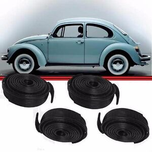 VW BUG Classic AIRCOOLED SUPER BEETLE FENDER BEADING 4 PACK BLACK Wing Type 1 2