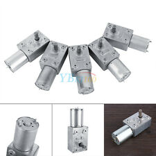 Motor engranaje de tornillo alto par DC 12V motor reducción 2-100RPM reversible
