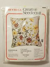 """Vintage Bucilla Crewel Embroidery Kit #8688 """"Field Daisies"""" - Made in Usa"""