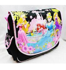 Large Disney Princesses Messenger Bag - Black Night Ariel Flowers Girls Shoulder