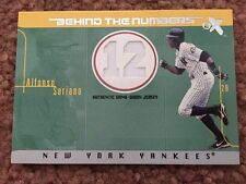 2003 Fleer E-X Alfonso Soriano Behind The Numbers Jersey Relic Card 440/500