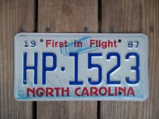 1987 North Carolina Highway Patrol License Plate HP-1523 First in Flight Metal