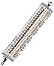 Lucky Brand Two-Tone & Leather Multi-Row Flex Bracelet