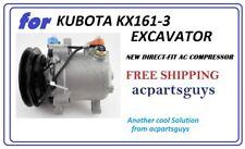 AC COMPRESSOR FOR KUBOTA KX161-3 EXCAVATOR T2055-72210 SVOE6