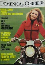 DOMENICA DEL CORRIERE N.12 1972 RAFFAELLA CARRA' PHILIPPE LEROY MUSSOLINI