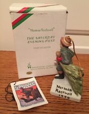 """Norman Rockwell 1990 Dave Grossman """"Bringing Home The Tree� Ornament"""