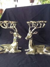 Pair of Elegant High End Reindeer Candelabras