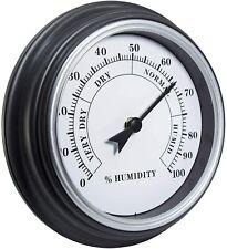 9 Inches Retro Rustic Home Decor Hygrometer Analog with Arabic Numerals (Silver)