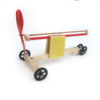 Rubber Band Powered Racing Car DIY Assembly Kids Educational Toy Physics Learn Q