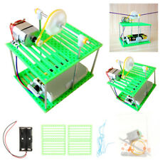 DIY Assembly Electric Cable Car Model Kit Science Educational Toy Kids Xmas Gift