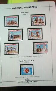 Boy Scout Stamps Nat'l. Jamboree Qatar, French Polynesia 1969,1971 Mint H185