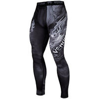 Venum Minotaurus Mens Compression MMA Spats Legging Black/White - XL