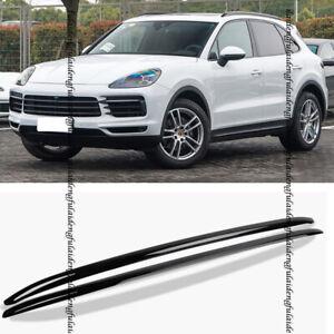 Aluminium For Porsche Cayenne 18-2019 Black Baggage Luggage Roof Rack Rail Bar