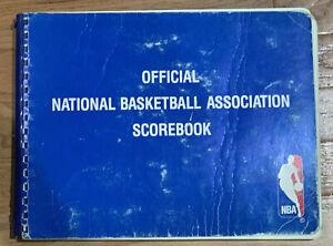 1989-90 NJ Nets Home Games Official NBA Scorebook incl. 2 Michael Jordan Games!