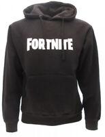 Felpa Fortnite Originale con cappuccio ufficiale nera scritta logo cappuccio