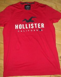 Mens Hollister Tee t-shirt , small  Red new with tags  RRP £20