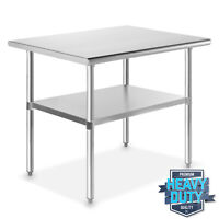"""Stainless Steel 24"""" x 36"""" NSF Commercial Kitchen Work Food Prep Table"""