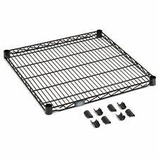 """Nexel Black Epoxy Wire Shelf w/Clips, 24""""W x 18""""D"""