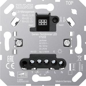 Jung 1712DE Serien-Tastdimmer Universal LED