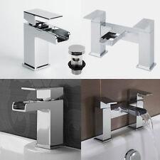 Tap Bathroom Waterfall Mixer Basin Bath Filler Taps Chrome Wash Sink Bathtub