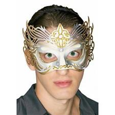 Gold & Silver Filigree Venetian Mardi Gras Eye Mask on a Headband
