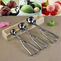 3 Pcs Stainless Steel Ice Cream Scoop Spoon Melon Baller Small Middle Large