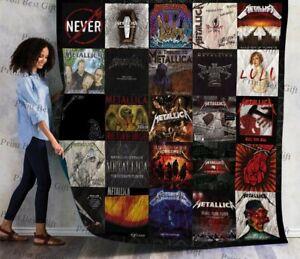 Metallica Quilt Blanket Gift For Fan Valentine Gift Idea