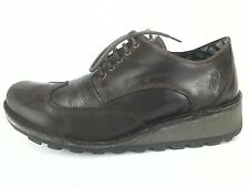 GUC $170 FLY London brown leather comfort lace up shoes oxfords EU 38 US 7.5/ 8