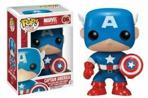 Funko Pop! MARVEL Captain America #06 Avengers Vinyl Action Figure NIB