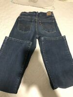 Levi's Women's 512 Perfectly Slimming Boot Cut Blue Denim Jeans-Size 2P M