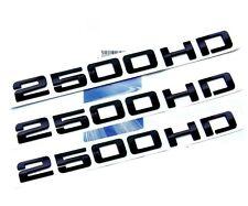 3pcs GENUINE Black 2500HD Nameplates EMBLEMS Badges for GM Silverado Sierra YU