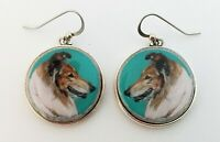 Collie Original Art Earrings