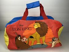 Disney The Lion King Carrying Case Duffle Bag Tote Kids Vintage Zipper