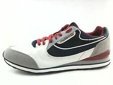 DIESEL Mens SNEAKERS Blue White RAKETIER ARAMIS Shoes RETRO US 12 EU 45 EUC $120