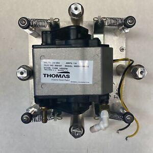 Thomas Diaphragm Compressor/Vacuum Pump 6025SE/24VDC MOUNTED *Tested Working*