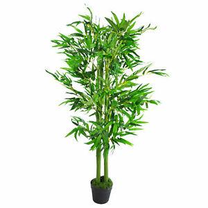 120cm (4ft) Fat Leaf Artificial Bamboo Plants Trees - XL LEAF-7105