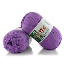 New 100% Bamboo Cotton Warm Soft Natural Knitting Light purple Wool Yarn 50g