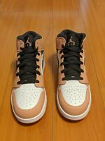 "Nike Air Jordan 1 Mid Grade School ""Pink Quartz"" 555112-603 Size 7Y. In Hand!"