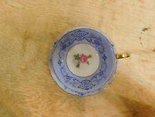 Royal Bayreuth Bavaria US Zone Germany Cup & Saucer Blue White Gold Roses