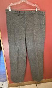"""WOOLRICH Heavy Wool Pants Men's Sz 42x30 (+3"""" Hem) Solid Gray"""
